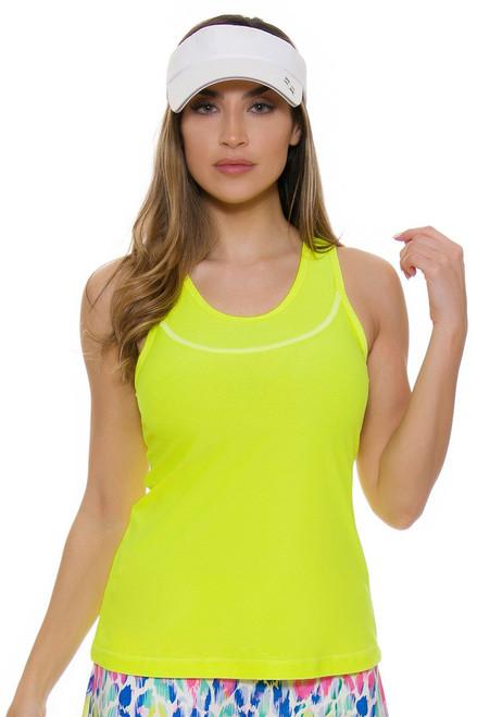 Allie Burke Women's Mesh Neon Tennis Tank