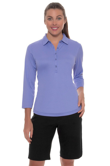 EP Pro Women's Basics Black Bi-Stretch Pull On Golf Shorts