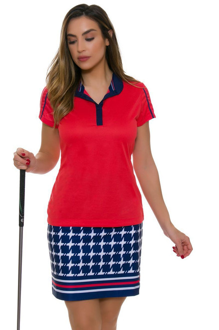 EP Pro NY Women's Graphic Jam Houndstooth Border Print Golf Skort