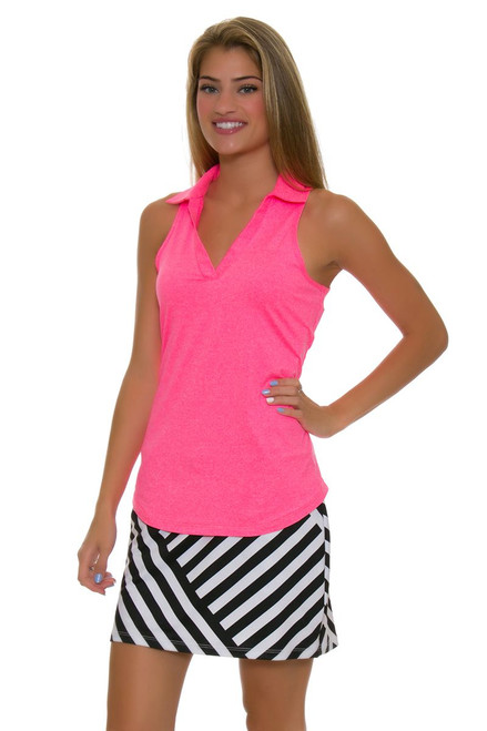 Allie Burke Cross Geo Stripe Print Pull On Golf Skort AB-BSKG01-BCG Image 1