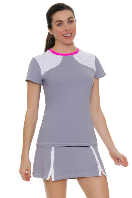 "Sofibella Women's Rio Banded 15"" Tennis Skirt"