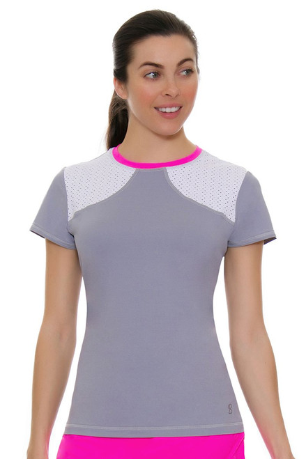 Sofibella Women's Rio Dropshot Tennis Short Sleeve
