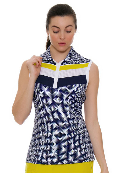 GGBlue Women's Escapade Sonia Golf Sleeveless Shirt