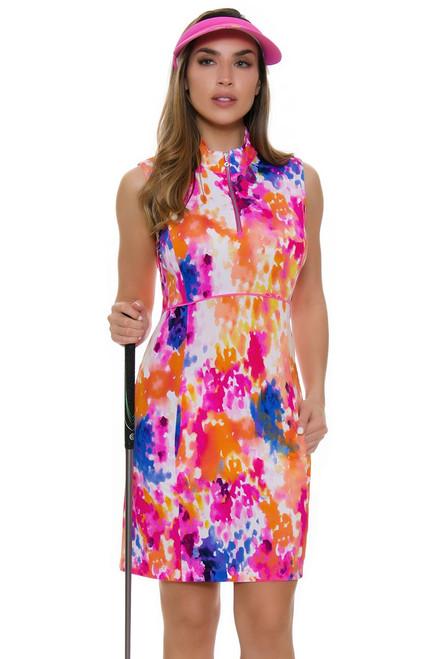 EP Pro NY Women's Brilliants Rain Splatter Print Golf Dress