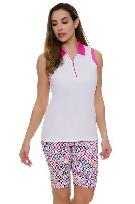 EP Pro NY Women's Brilliants Compression Print Pull On Golf Shorts