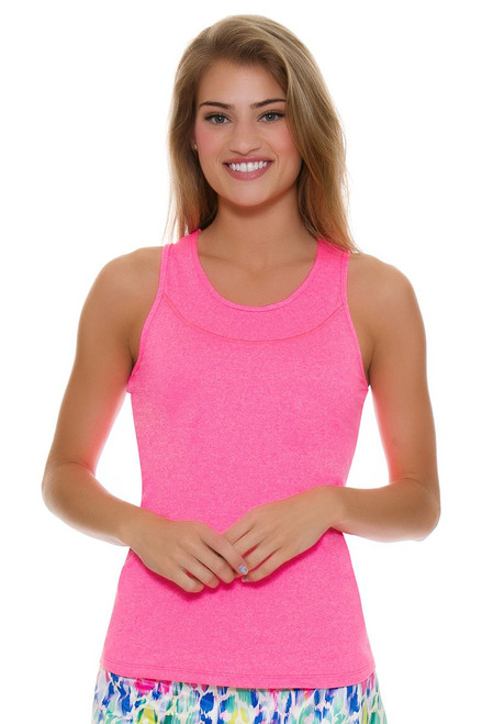 Allie Burke Women's U Neck Coral Tennis Tank