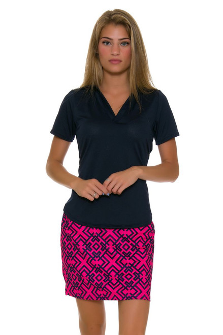 Allie Burke Geo Tile Print Pull On Golf Skort AB-BSKG01-NVPKG Image 1