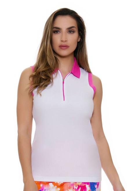 EP Pro NY Women's Brilliants Contrast Blocked Golf Sleeveless Shirt
