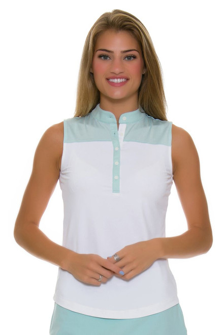Fairway and Greene Women's Back Splash Tabitha Sleeveless Golf Shirt