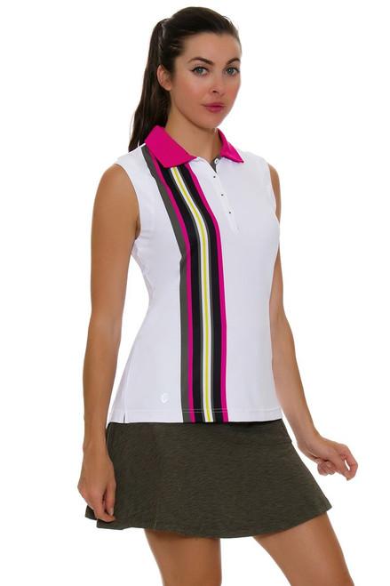 GGBlue Women's Pursuit Flounce Olive Space Dye Pull On Golf Skort