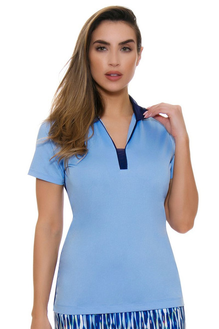 EP Pro NY Women's Luxor Contrast Trim Golf Short Sleeve Polo