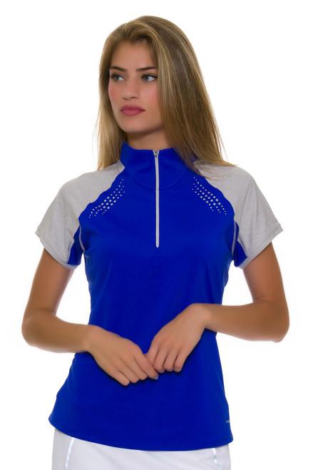 Annika Women's Hero Leader Contour Mock Golf Cap Sleeve Polo 1