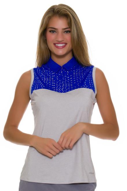 Annika Women's Hero Focus Print Mix Golf Sleeveless Shirt