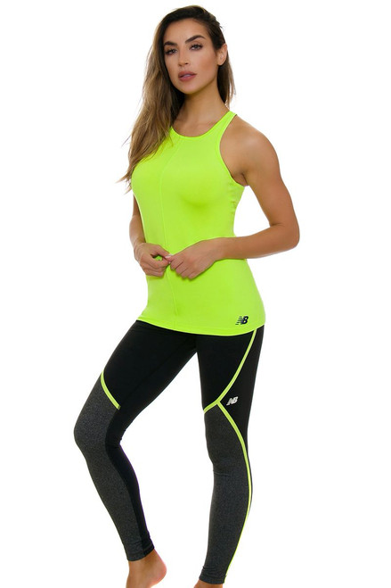 New Balance Women's Trinamic Lime Glo Workout Tight