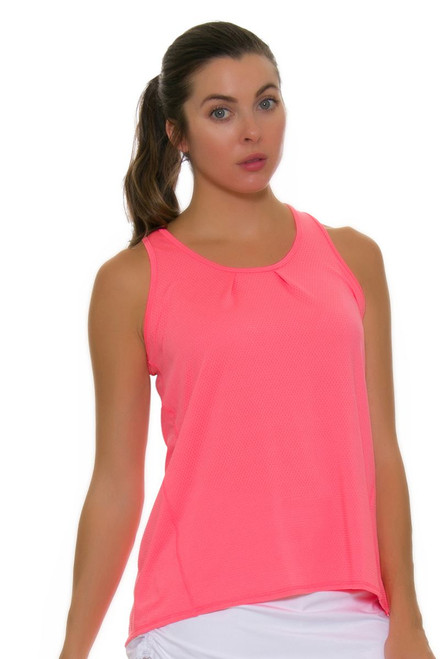 Lucky In Love Women's Core Tops Tie Back Lava Tennis Tank