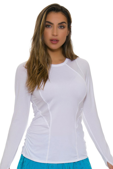 Lucky In Love Women's Core Contour White Tennis Long Sleeve