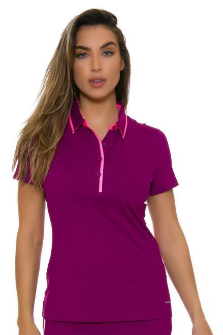 Annika Women's Intuition Early Bird Emboss Golf Short Sleeve Polo