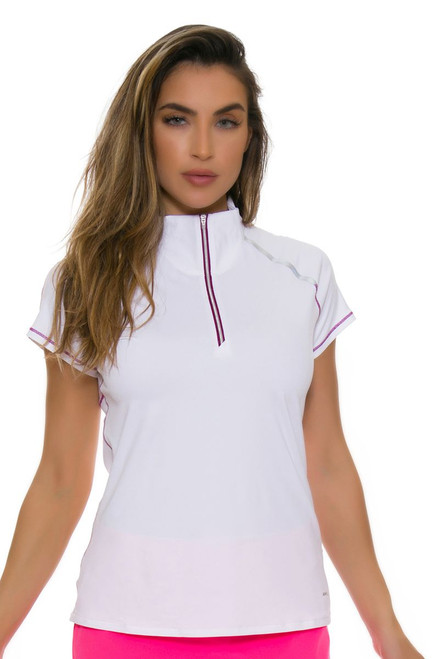 Annika Women's Intuition Action Contour Mock Golf Cap Sleeve Top