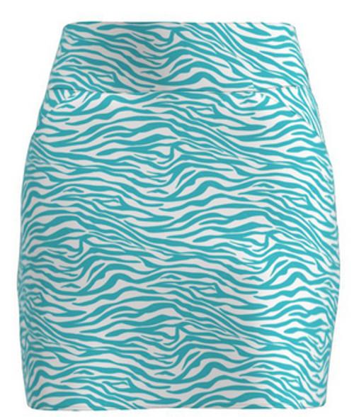 Allie Burke Zebra Seafoam Print Pull On Golf Skort