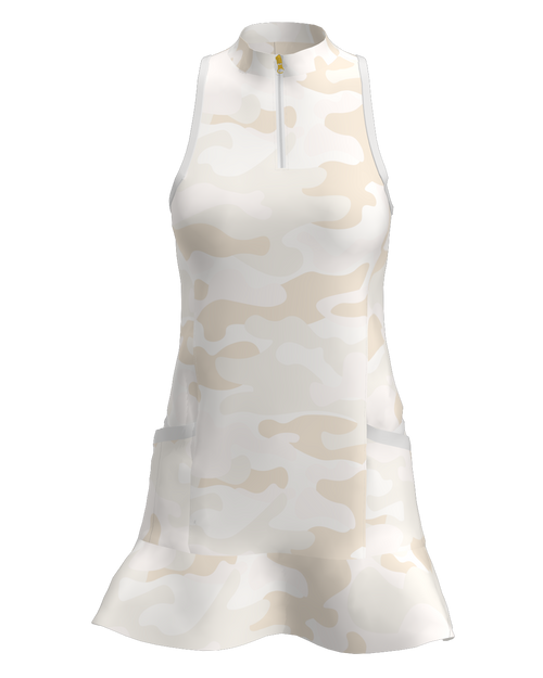 Allie Burke Camo Print Flounce Golf Dress