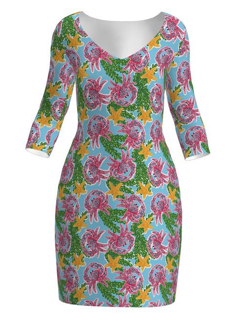 Allie Burke Crab Print Lifestyle Dress