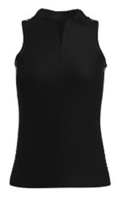 Allie Burke UV Black Racerback Sleeveless Polo