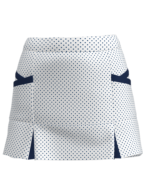 Allie Burke Women's Polka Dot Kick Pleat Tennis Skirt BSKT04-WNPDN