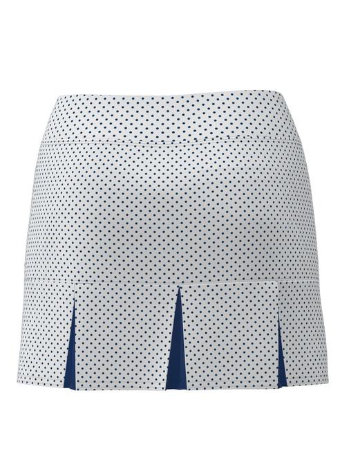 Allie Burke Women's Polka Dot Back Pleat Tennis Skirt BSKT05-WNPDN