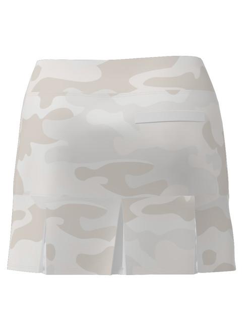 Allie Burke Women's Camo Print Back Pleat Tennis Skirt