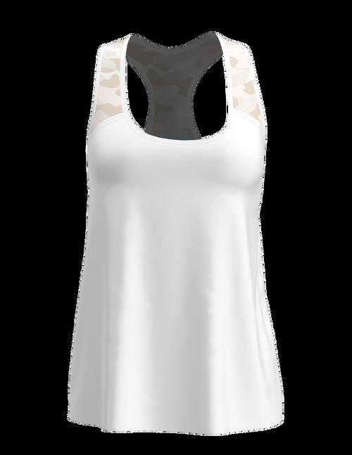 Allie Burke Women's Camo Racerback Tennis Tank