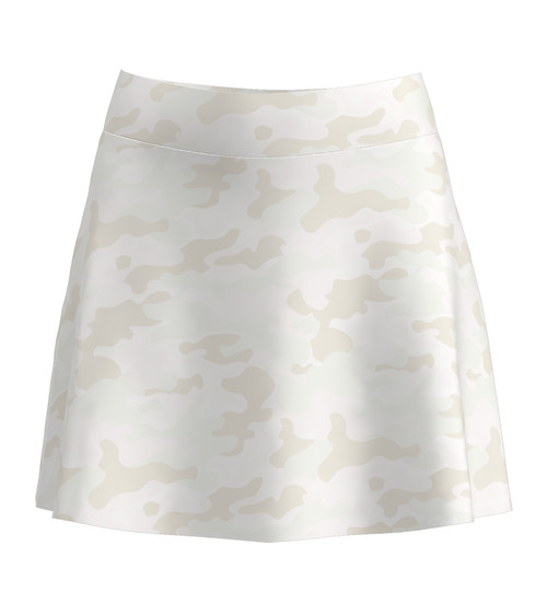 Allie Burke Camo Print Flounce Pull On Golf Skort  (BSKG02-CAMO)