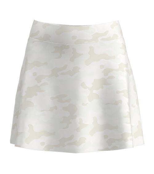 Allie Burke Women's Camo Print Flounce Tennis Skirt (BSKT02-CAMO)