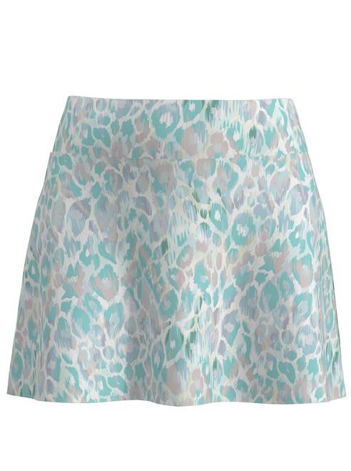 Allie Burke Animal Skin Print Flounce Tennis Skirt (BSKT02-ANMTA)