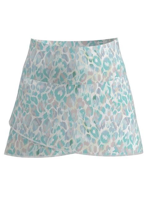 Allie Burke Animal Skin Print Scallop Tennis Skirt (BSKT03-ANMTA)