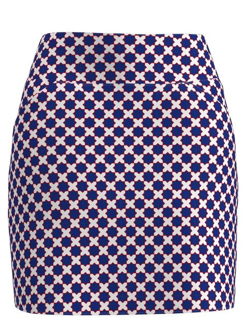 Allie Burke Mosaic Blue Pull On Golf Skort (BSKG01-MOSBWR)
