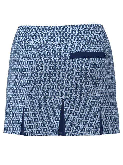 ABSport Tribal Navy Back Pleat Tennis Skirt (BSKT05-TRBNV)