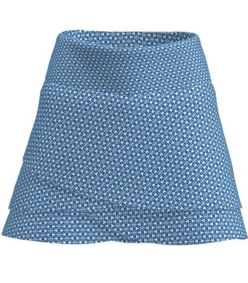 ABSport Tribal Navy Scallop Tennis Skirt (BSKT03-TRBNV)