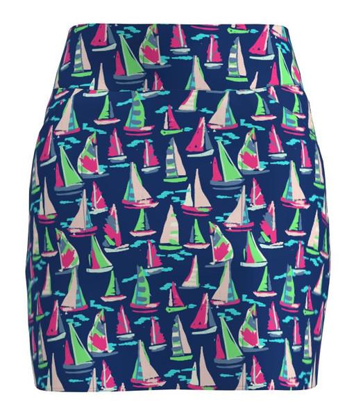 ABSport Sailboat Navy Print Golf Skort  (BSKG01-SAILN)