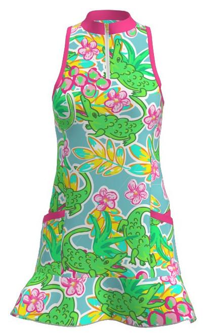 Allie Burke Alligator Print Flounce Golf Dress (GD003-ALLGL)