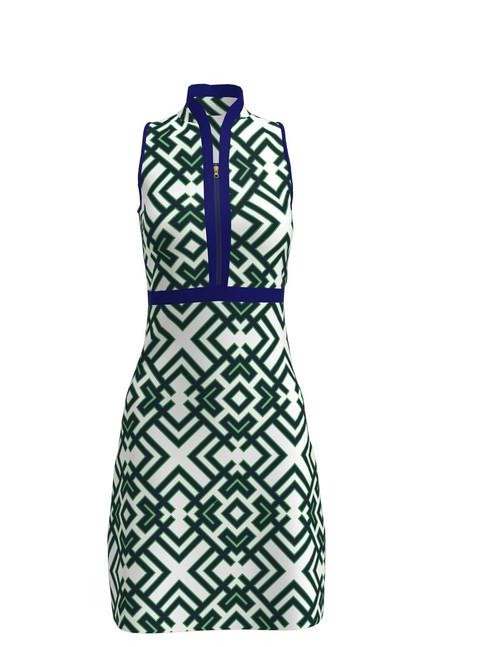 ABSport Geo Green White Golf Dress