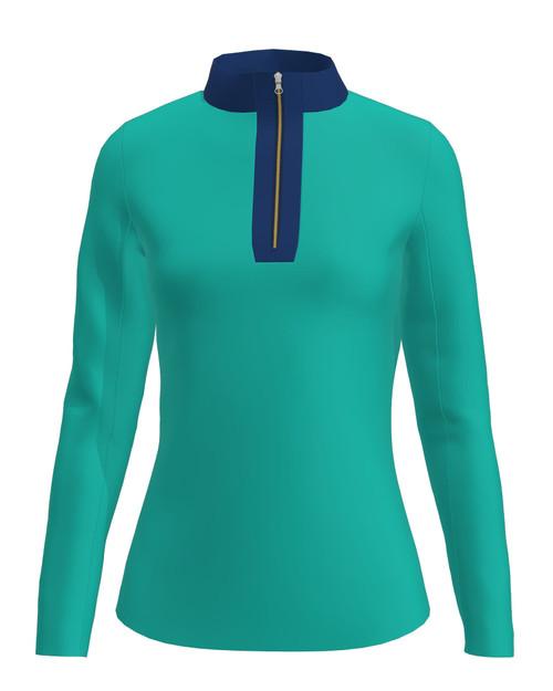 ABSport Bahamas Navy UV 40 Sun Shirt (LS02-BHNV)