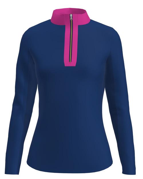 ABSport Navy Pink UV 40 Sun Shirt (LS02-NVPK)