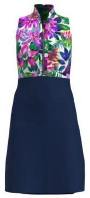 AB SPORT Exotic Floral Navy Women's Golf Dress - EXF