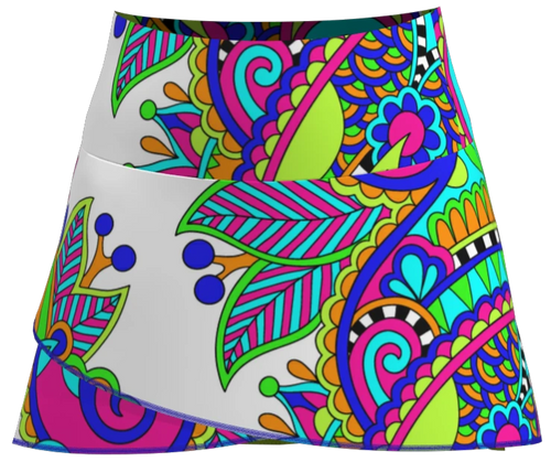 AB SPORT Women's Scallop Tennis Skirt SCARF_130