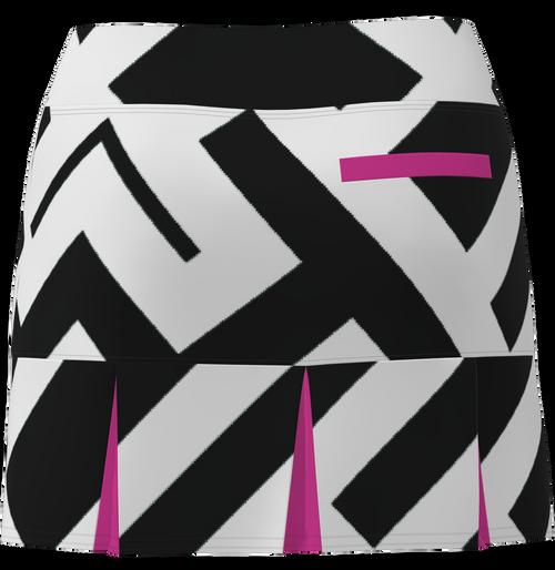AB SPORT Women's Back Pleat Golf Skirt - GEOBLP