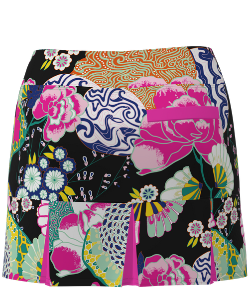 AB SPORT Women's Back Pleat Golf Skirt - JPGBLK