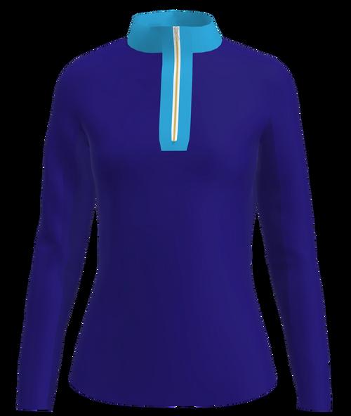 AB Sport Women's Long Sleeve Royal Sky Blue UV 40 Sun Shirt