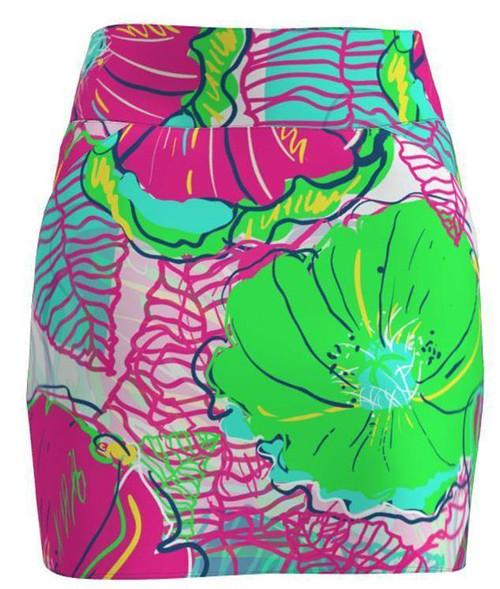 AB Sport Women's Preppy Floral Golf Skirt