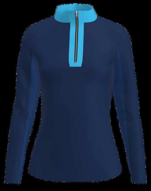 AB Sport Women's Long Sleeve UV 40 Sun Shirt - NAVSK