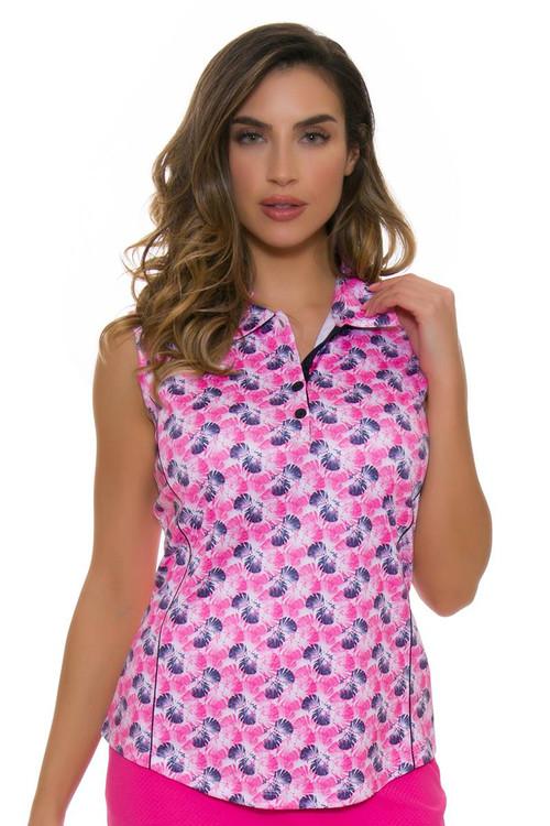 Greg Norman Women S Royal Palm Print Golf Sleeveless Shirt